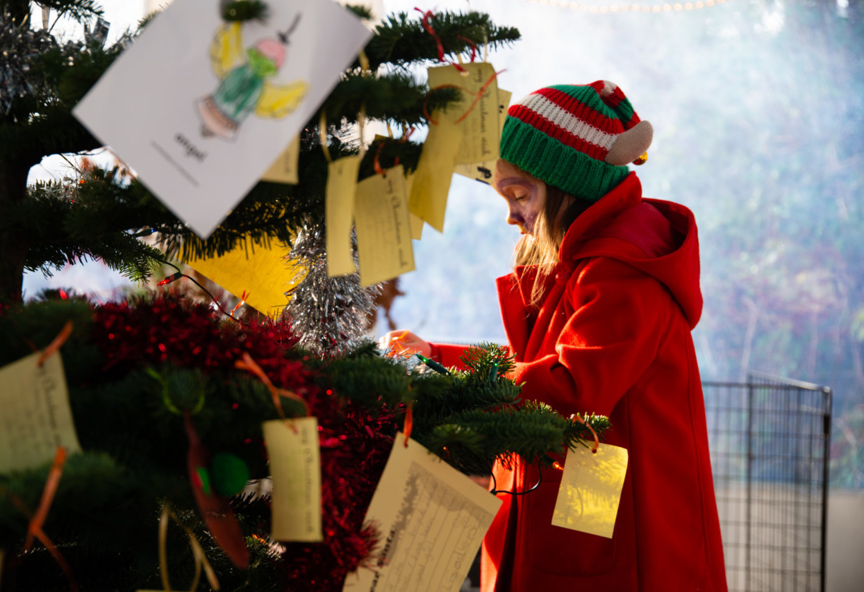 Things to do in County Galway, Ireland - Santa's Christmas Magic - Hanging Christmas wishes at Brigit's Garden - YourDaysOut - Photo 3
