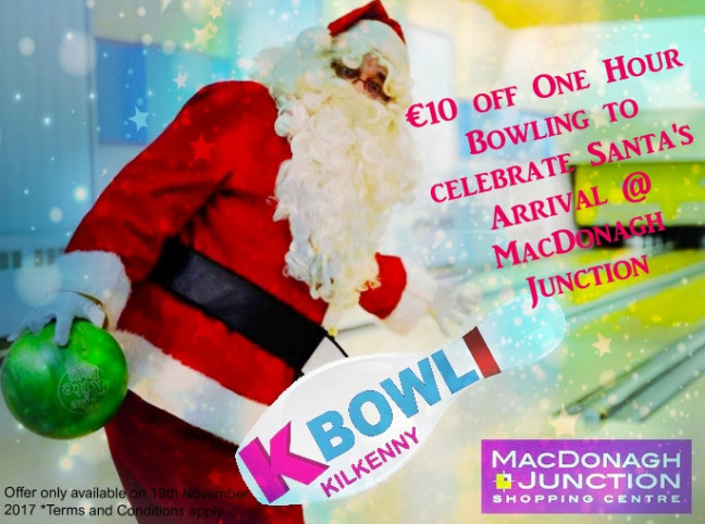 Things to do in ,  - Celebrate Santa's Arrival with €10 Bowling - YourDaysOut